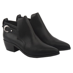 Honor Bootie in Black Leather