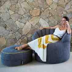The Jaffa designer indoor beanbag chair cover