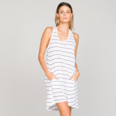 Rosie Dress in organic cotton stripe