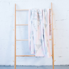 Pastel Pink Kilim Blanket