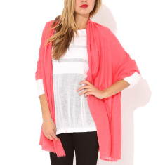 Moye cashmere stole in watermelon