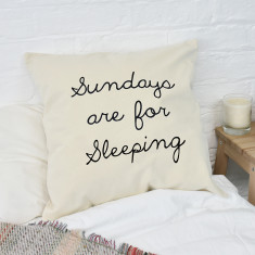 Sundays Are For.. Personalised Cushion Cover {note from htf: please show image example of personalised message}