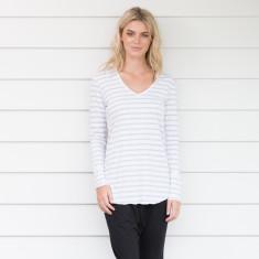 Long Sleeve Urban Tee Grey Stripe