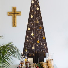 Soho Christmas tree wall decal with lights & decorations