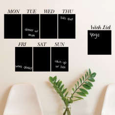 Weekday blackboard wall sticker