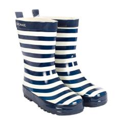 Gumboots in navy stripe