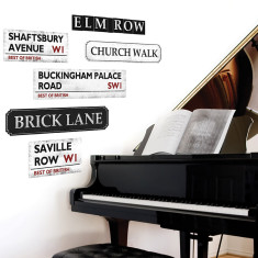 British street signs wall stickers