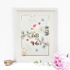 Personalised Special Date Metallic Print