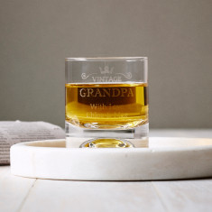 Personalised vintage whisky glass