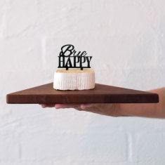 Cheese markers in black or maple (set of 4)