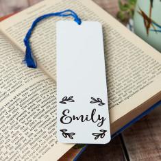 Personalised Wreath Bookmark