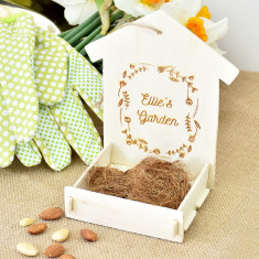 Personalised Wooden Bird Feeder Kit