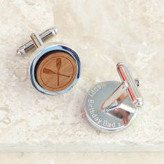 Wooden Crossed Oars Cufflinks