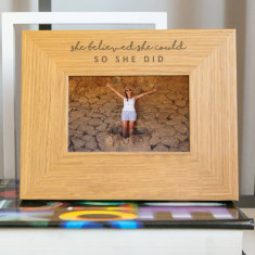 She Believed She Could, So She Did Photo Frame