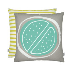 Summer citrus cushion in lime