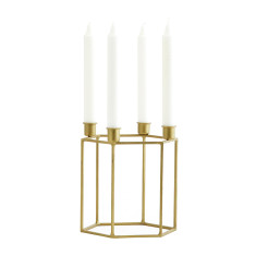 Square Brass Candle Holder