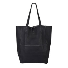 Monica Dark Grey leather shopper