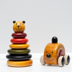 Teddy stacker & car gift set