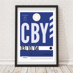 Canterbury Bulldogs Luggage Tag Wall Art