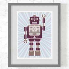 Robot Norman art print