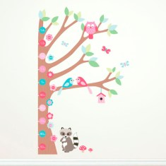 Forest growth chart wall decal