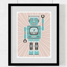 Robot Hector art print