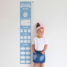 Personalised Milestone Height Chart Poster