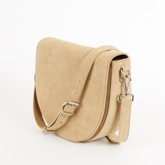 Lorna & Bel Ava Cross Body Bag with In Built Charger (Sand Suede)