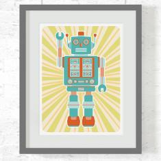 Robot Fletcher art print