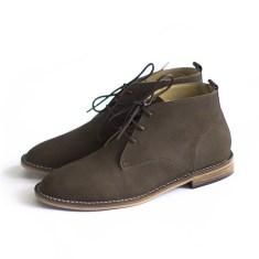 Desert dark brown leather boots