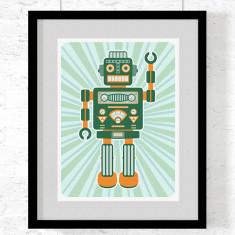 Robot Artemus art print