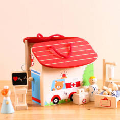 Personalised Wooden Hospital Playset