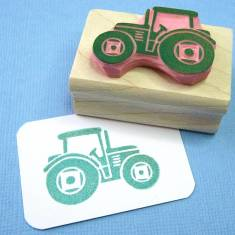 Mini tractor rubber stamp