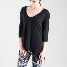 Cashmere mix essential deep V neck top