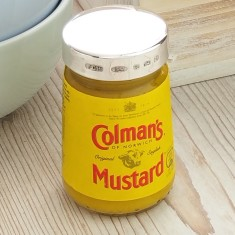 Personalised silver mustard lid