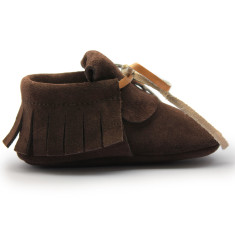 Baby moccasins in chocolat