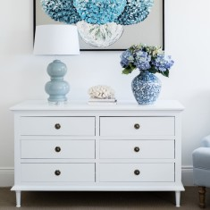 White Chest of Drawers - 6 Drawer