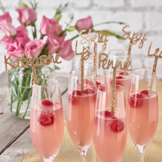 Personalised Sparkling Swizzle Drinks Stirrers (set of 10)