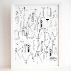 Tools collection print