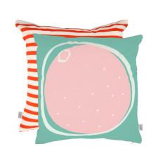 Summer citrus cushion in pink grapefruit