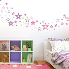 Shimmering stars wall decal