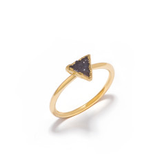 Mini Drusy Dark Grey Triangle Stacking Ring