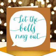 Let the bells ring out Christmas card