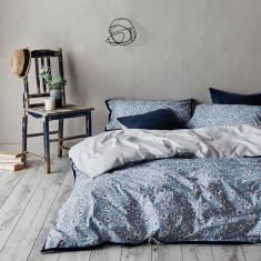 Eden quilt cover set in Blue