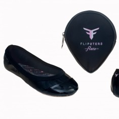 Flipsters foldable flat shoes in black