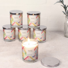 Set Of Six Soy Candles (Three Fragrances Available)
