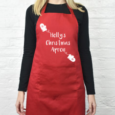 Christmas Mitten Personalised Apron