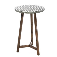 Mosaic Bar Table Timber – Chevron (70cmD)