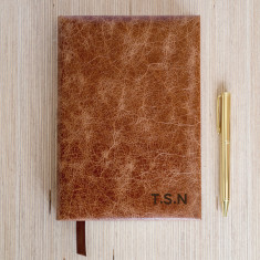 Personalised Tan Initials Journal