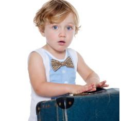 Blue bow tie vest
